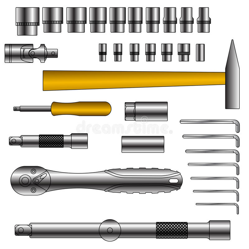 Download Vector Set Of Different Tools Stock Photography - Image: 23738772