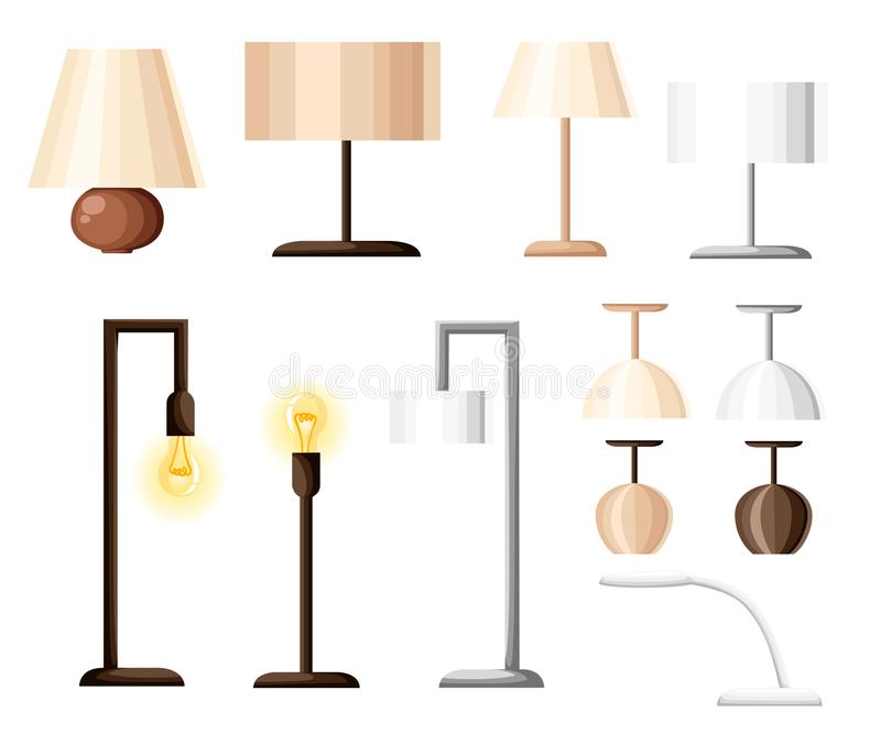 Vector set of different types of indoor lighting pendant ceiling download vector set of different types of indoor lighting pendant ceiling light spotlight aloadofball Images