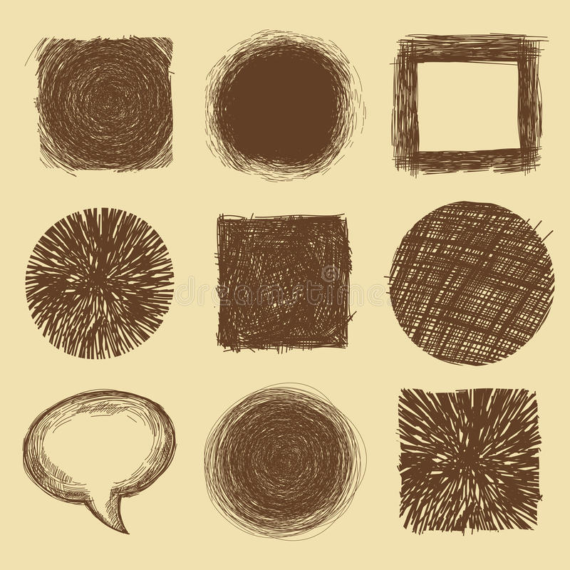 Download Vector Set With Doodle Backgrounds And Frames Stock Vector - Image: 30631964