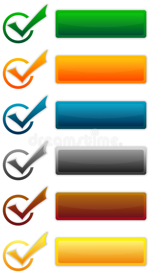 Vector: Set Of Elements Stock Images