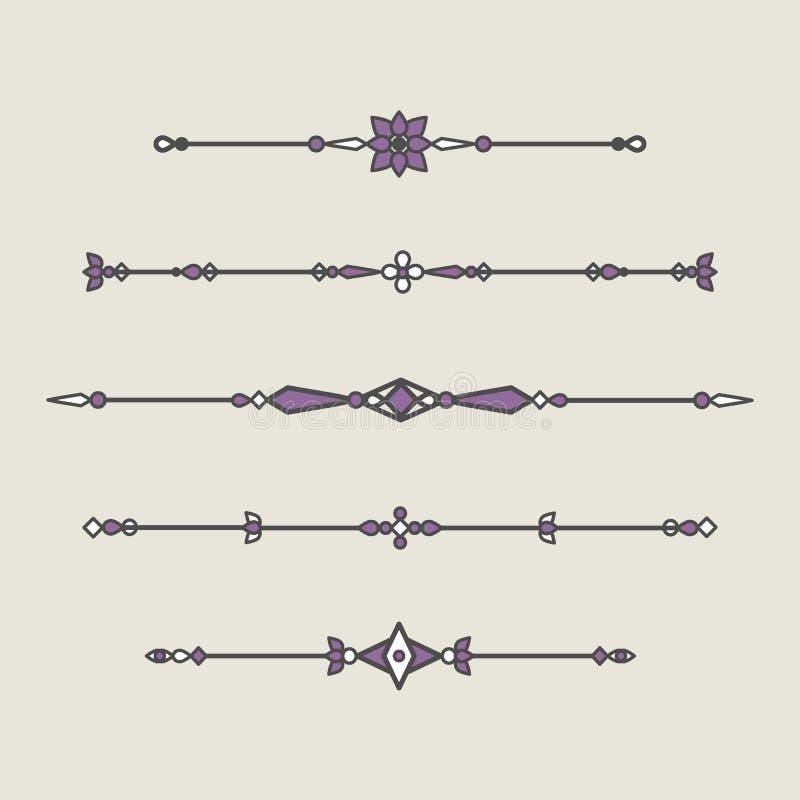Set Of Decorative Elements For Decoration stock illustration