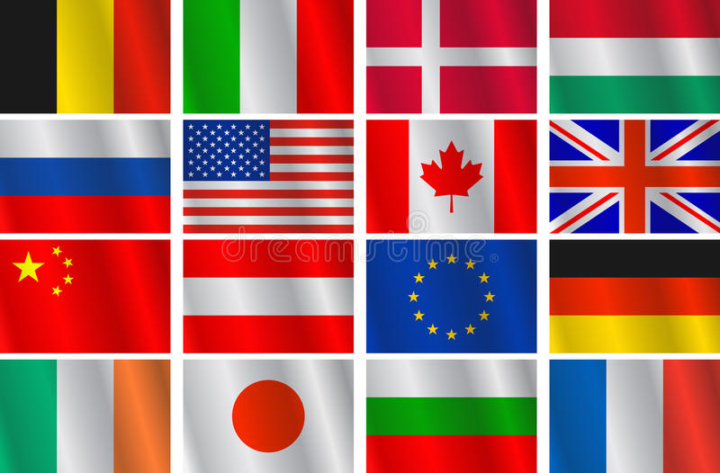 Download Vector set flags stock vector. Image of international - 23393530