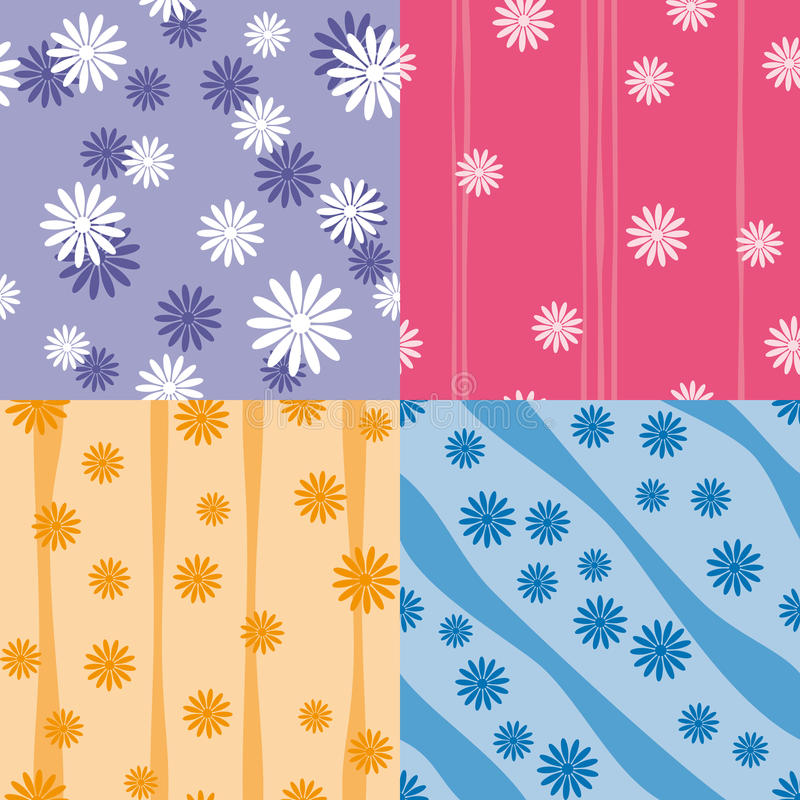 Download Vector Set Of Four Colorful Seamless Patterns Royalty Free Stock Image - Image: 19088026