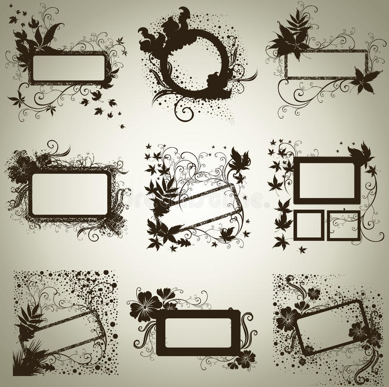 Download Vector Set Of Frames With Autumn Leafs. Thanksgiv Stock Vector - Image: 16113787