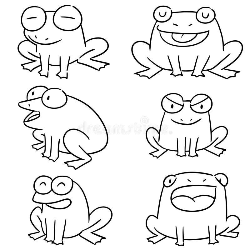 Vector set of frog vector illustration