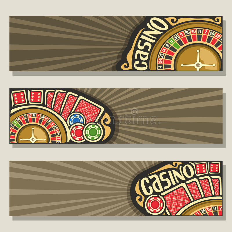 Vector set of gamble banners for Casino royalty free illustration