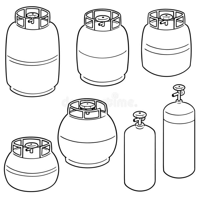 Vector set of gas tank royalty free illustration