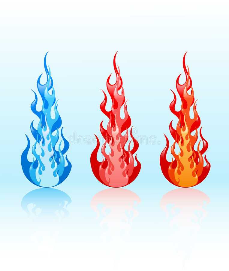 Download Vector Set Of Glossy Flames Stock Vector - Image: 6397923