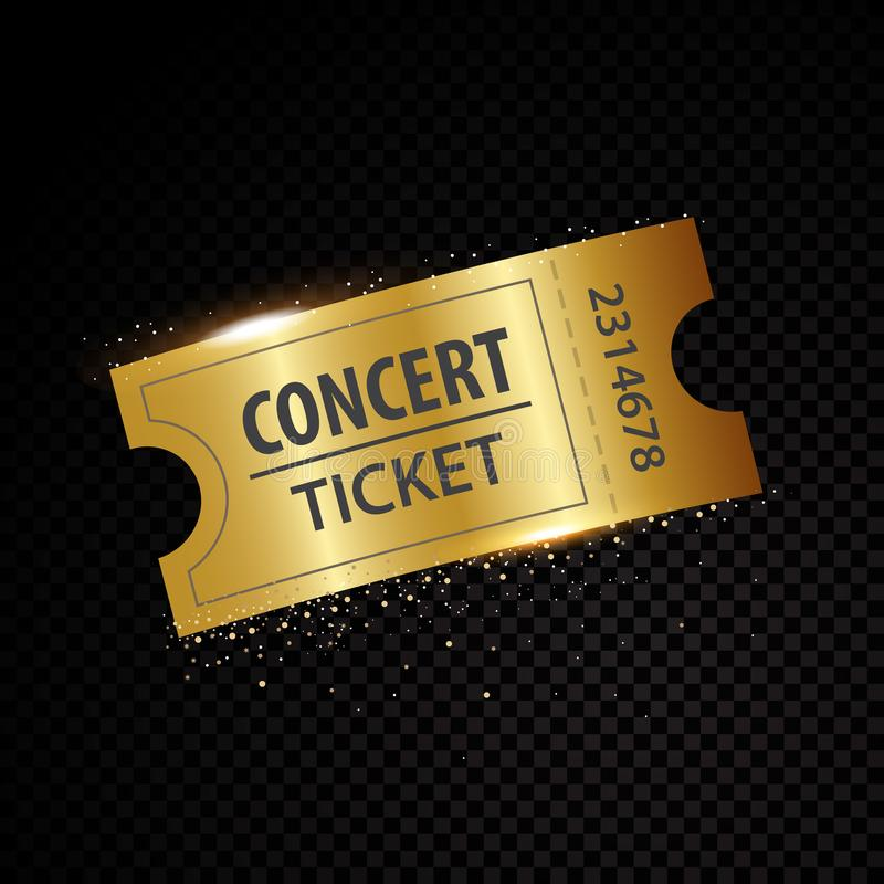 Vector golden tickets and coupons templates stock illustration