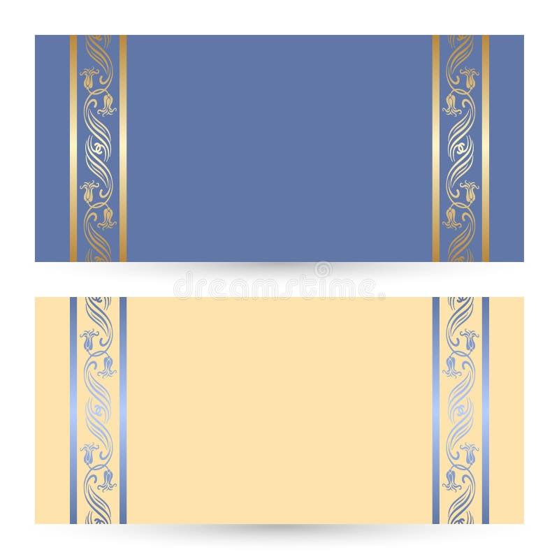 Vector set greeting or invitation cards. royalty free illustration