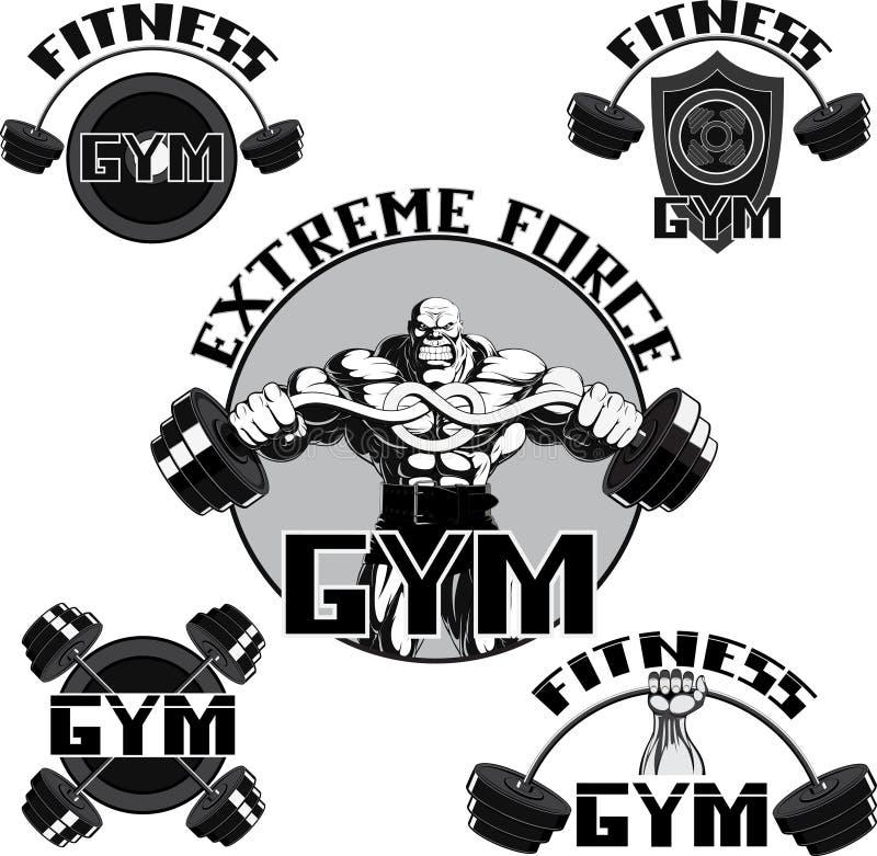 Vector set: gym royalty free illustration