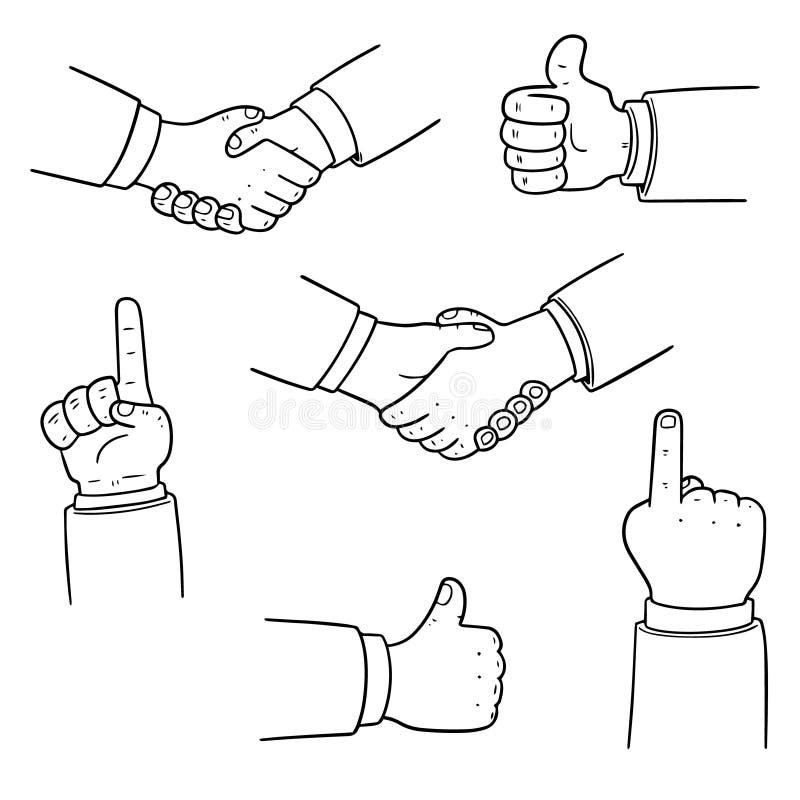 Vector set of hand vector illustration