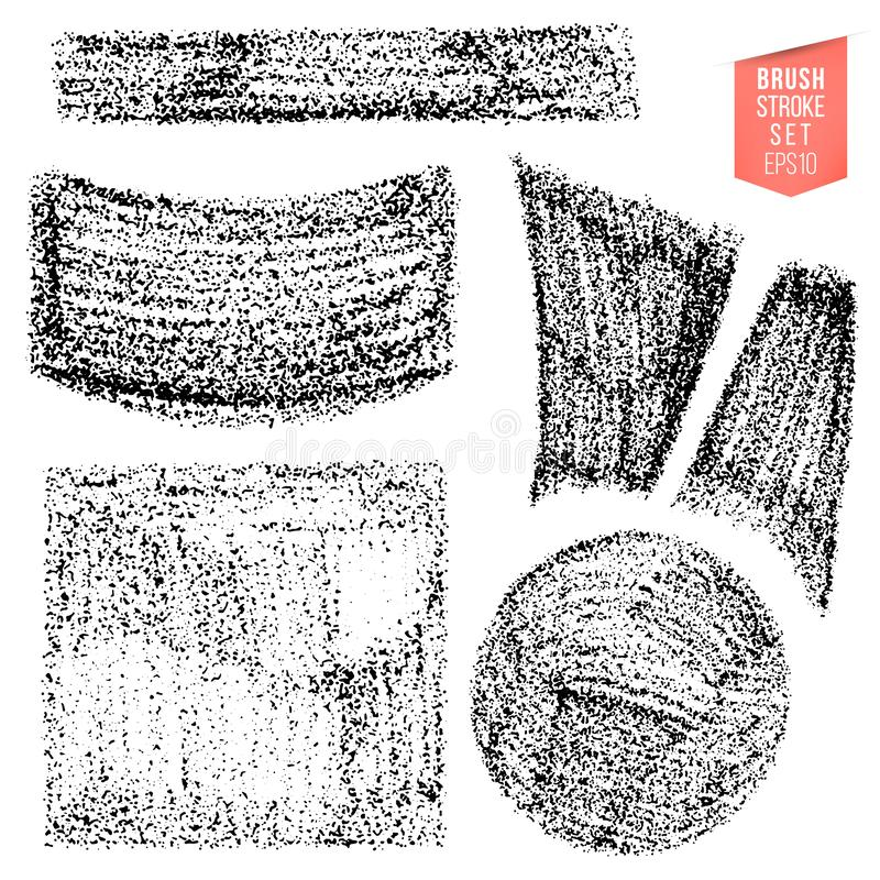 Vector set of hand drawn sketching pencil strokes, backdrops. Monochrome design elements set. One color monochrome. Artistic hand drawn backgrounds vector illustration