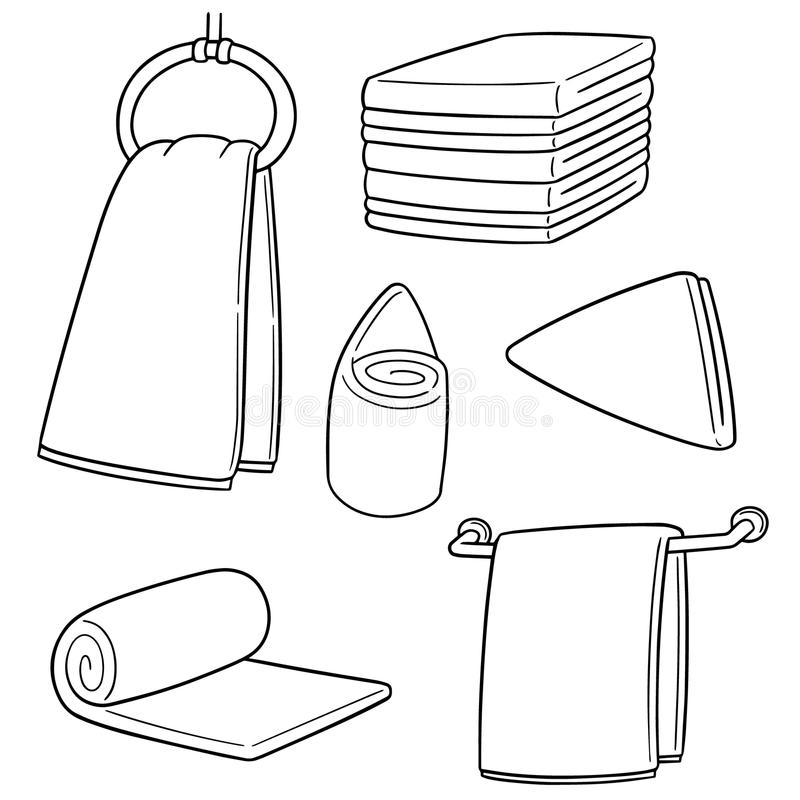 Vector set of hand towel royalty free illustration