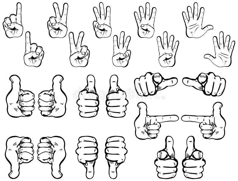 Vector Set: Hands royalty free stock image