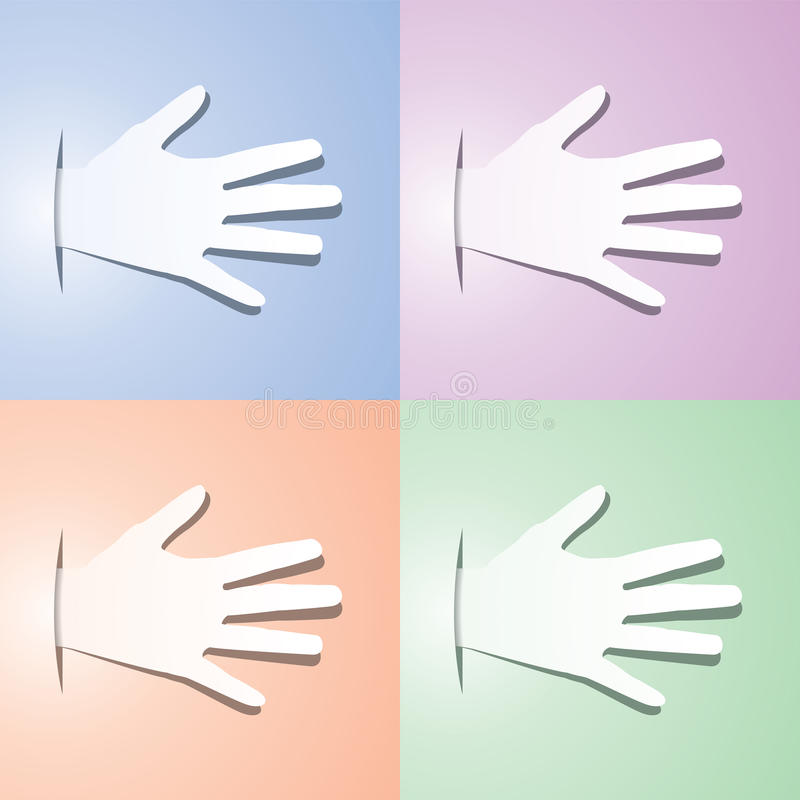 Vector Set Of  Hands Royalty Free Stock Photo