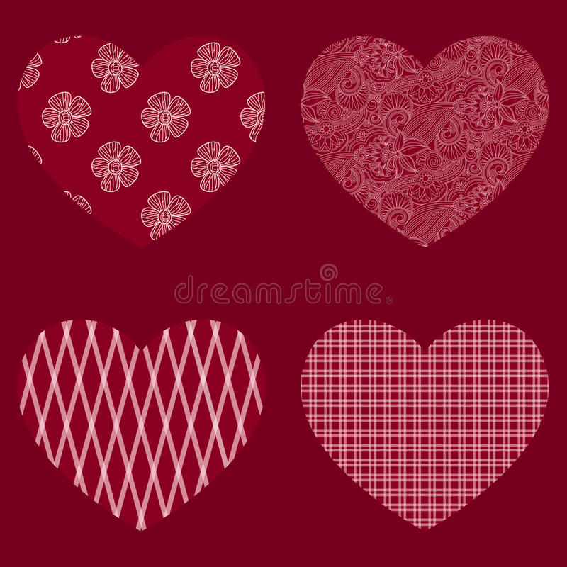 Download Vector hearts. stock vector. Image of love, background - 30096032