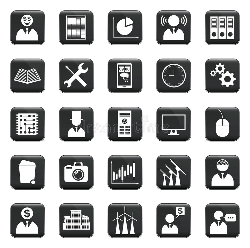 Vector Set Of Icons. Vector set of business icons, symbols and pictograms vector illustration