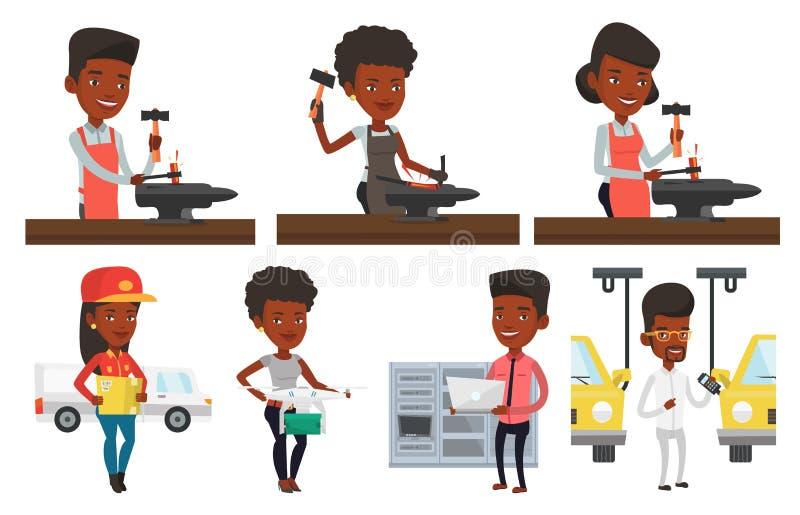 Download Vector Set Of Industrial Workers. Stock Vector - Image: 83713874