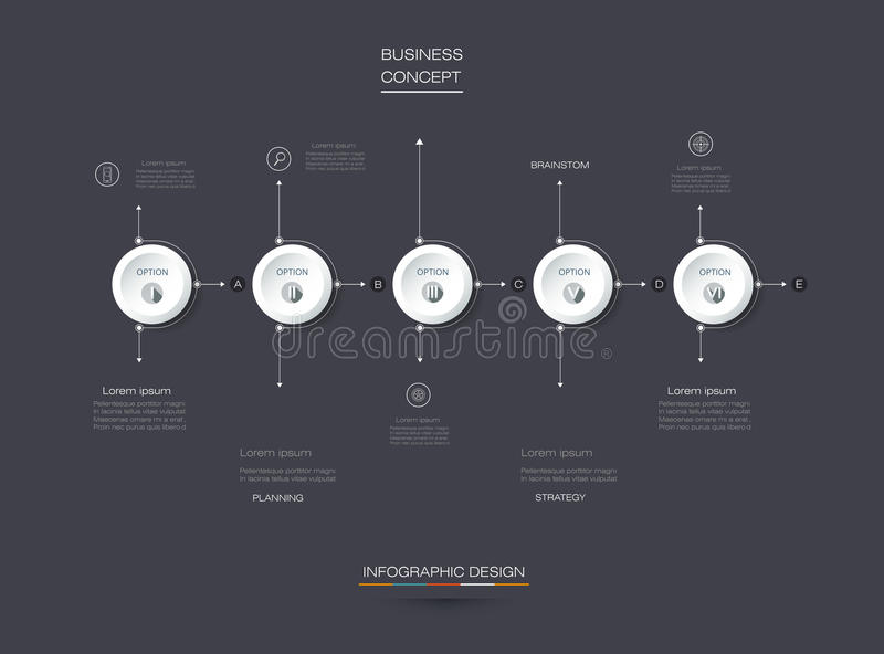 Vector set, infographics 3D circle label with 5 options or steps. Vector Infographic 3D circle label design with arrows sign and 5 options or steps. Can be used vector illustration