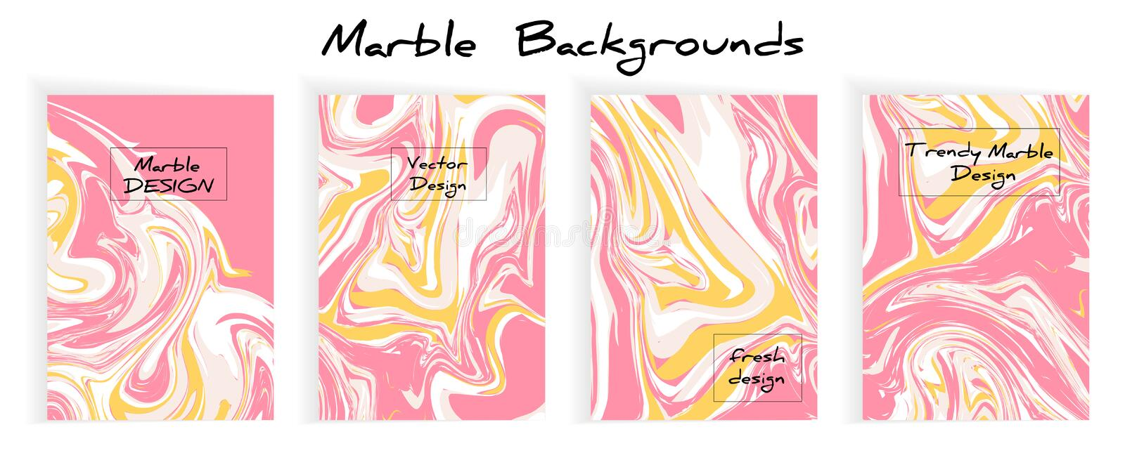 Vector set Ink texture acrylic draw marbling ilustracja, abstract background, party inviations ilustracja wektor