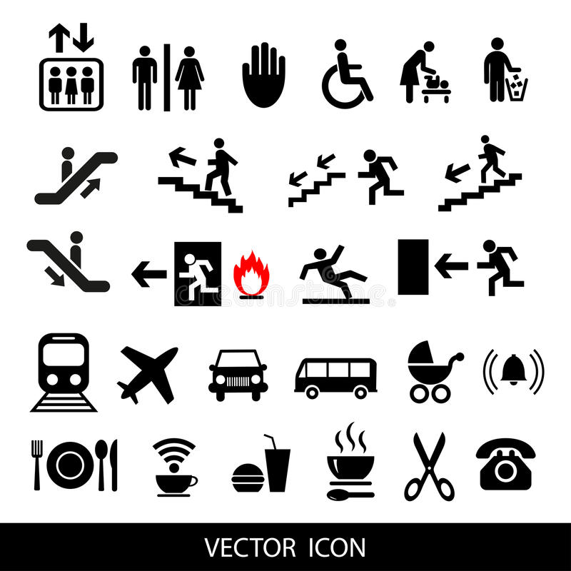 Vector set of international service signs. vector illustration