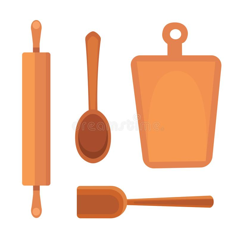 Download Vector Set Kitchen Utensils. Cooking Tools Flat Style. Cook  Equipment Isolated Objects Stock