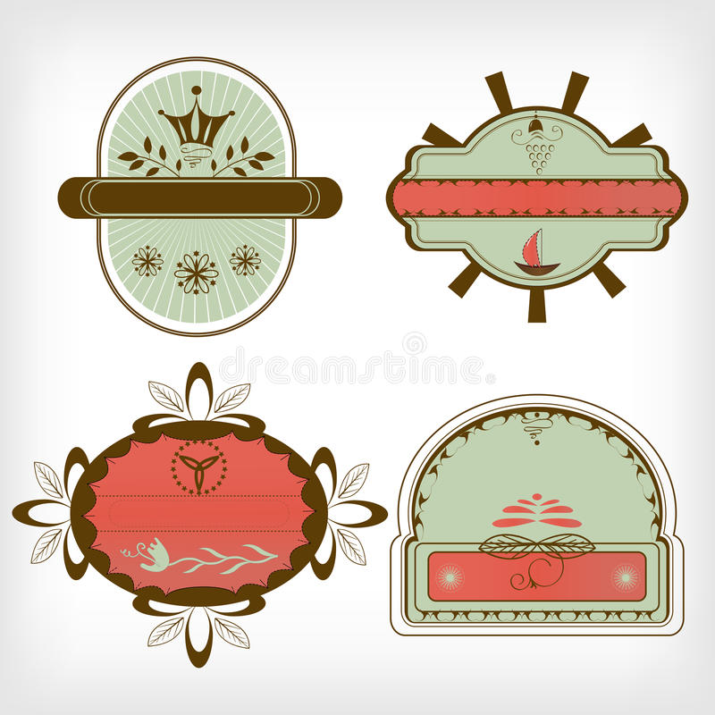 Vector Set  Labels Royalty Free Stock Image