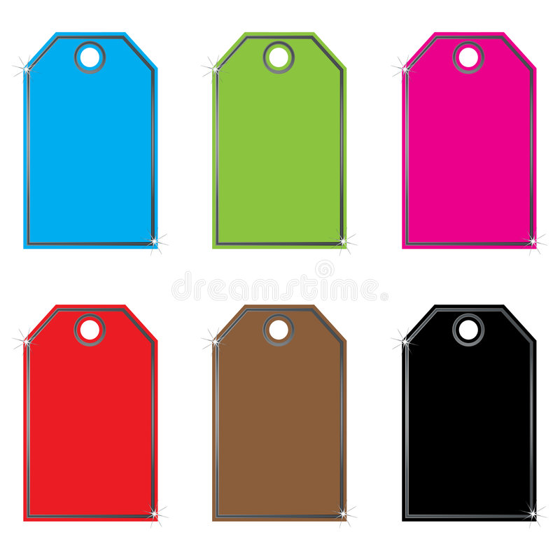 Vector set of labels ,tags stock illustration