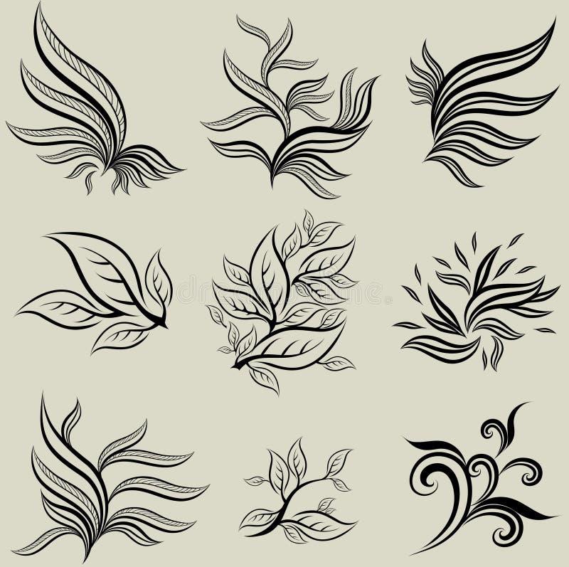 Download Vector Set Of Leafs Design Elements Stock Vector - Image: 18875258
