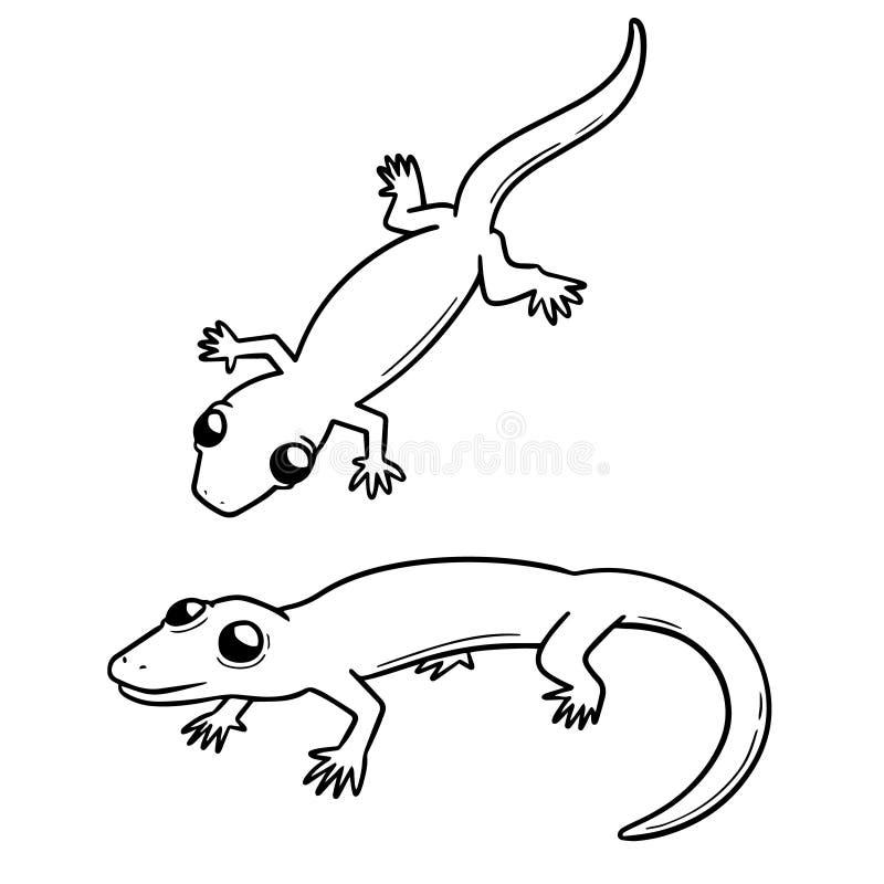 Vector set of lizards stock illustration