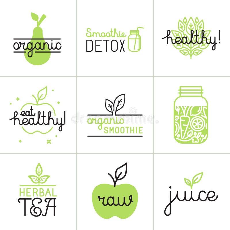 Vector set of logo design elements and badges stock illustration