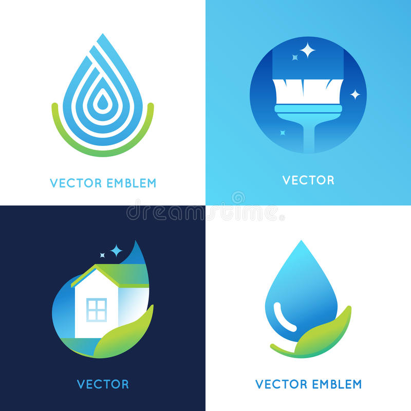 Vector set of logo design templates in bright gradient colors vector illustration