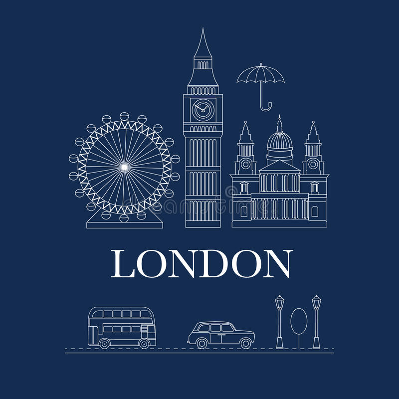 Vector set of London royalty free illustration