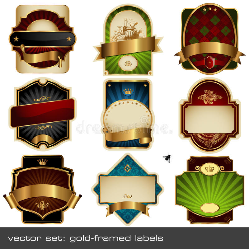 Vector set: luxurious labels vector illustration