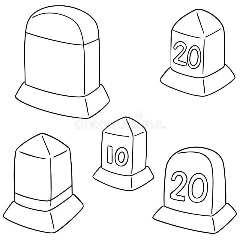 Vector set of milestone royalty free illustration