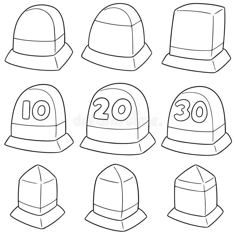 Vector set of milestone vector illustration
