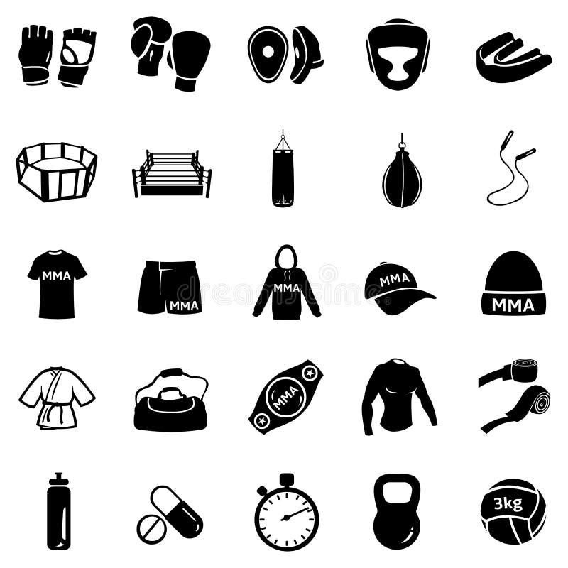 Vector Set of Mix Martial Arts Icons vector illustration