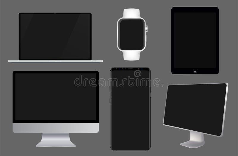 Vector set of Modern Digital devices vector illustration
