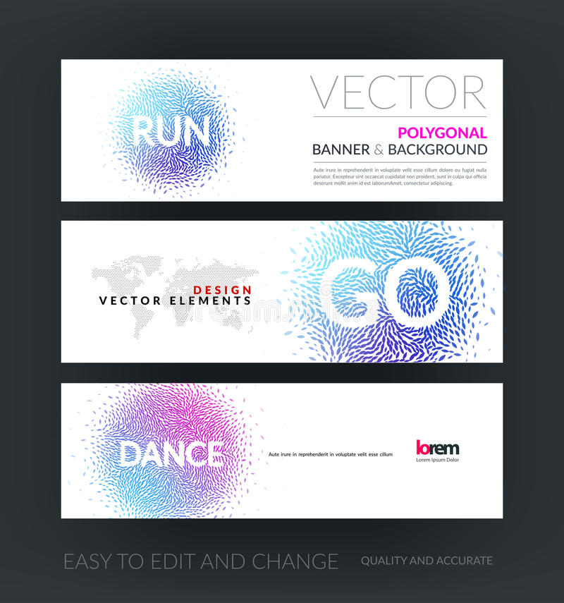 Download Vector Set Of Modern Horizontal Website Banners With Dance And R Stock Vector - Image: 74835074