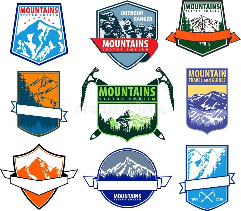Vector set of mountain emblems vector illustration