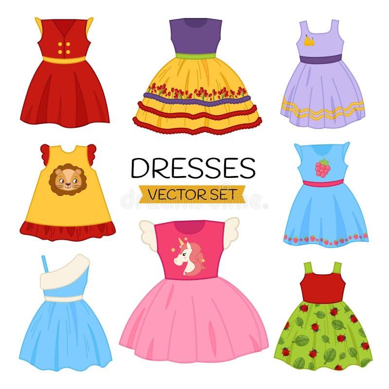 Free Vector Set Of Children`s Dresses Royalty Free Stock Photos - 144063238