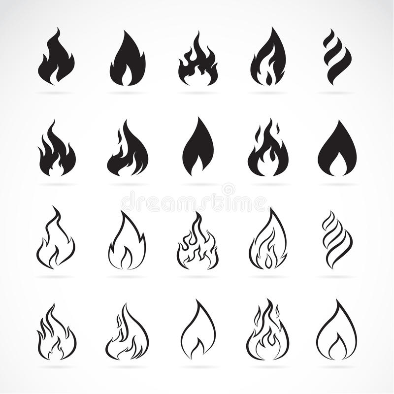 Free Vector Set Of Flame Symbols Stock Image - 51652781