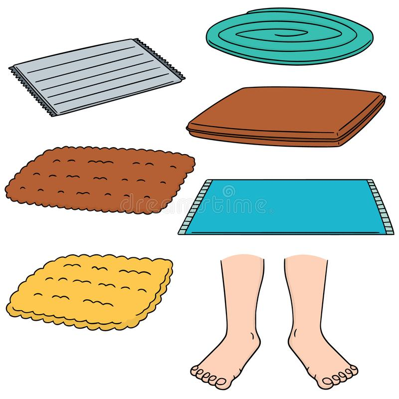 Free Vector Set Of Foot Wipe Royalty Free Stock Images - 117662489