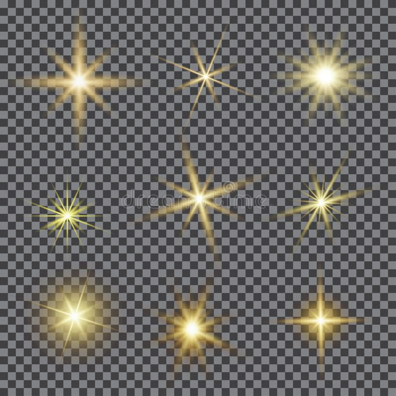 Free Vector Set Of Glare Lighting, Twinkle Lens Flares. Stock Images - 113099084