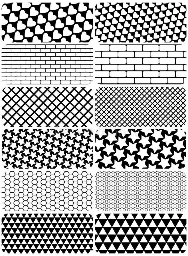 Free Vector Set Of Graphic Patterns Royalty Free Stock Image - 4828806