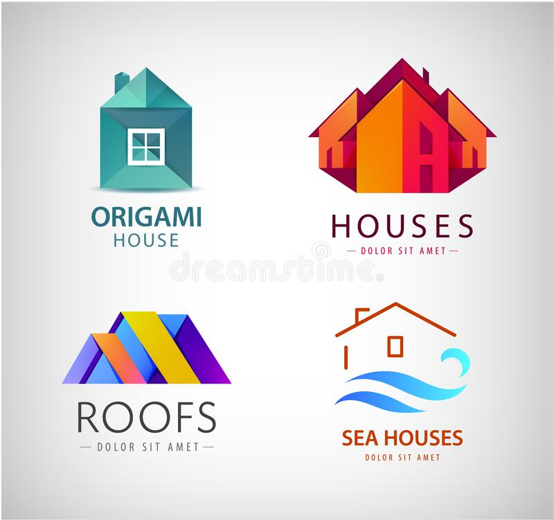 Free Vector Set Of House Logos, Real Estate Concept, Building Construction Icon. Royalty Free Stock Images - 192345189