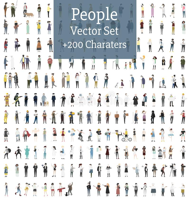 Free Vector Set Of Illustrated People Stock Image - 100088671