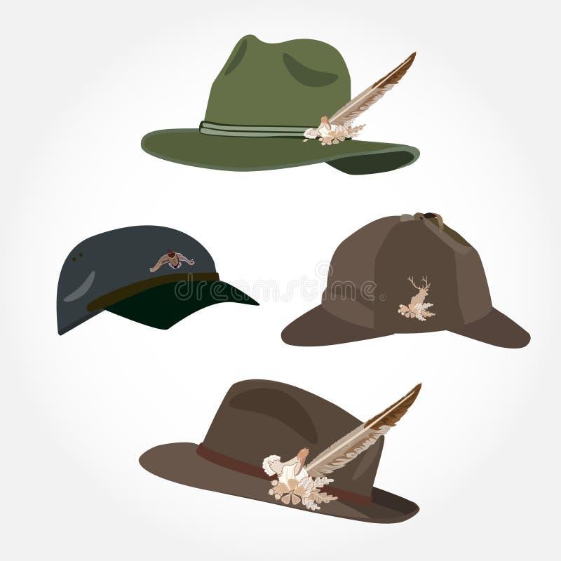 Free Vector Set Of Men`s Hats, Deerstalker Hat And Cap In Flat Style Royalty Free Stock Photo - 85863735