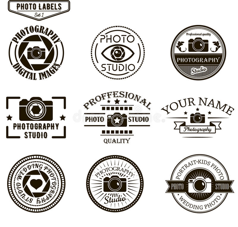 Free Vector Set Of Photography Logo Templates. Photo Stock Image - 61498401